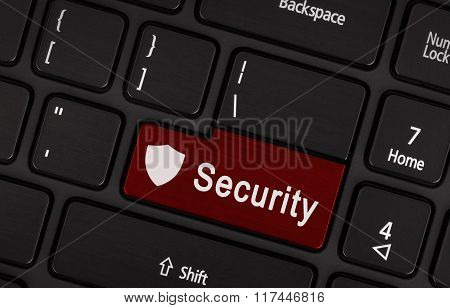 Closeup Picture Of Security Button