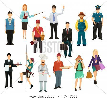 People, icon set vector