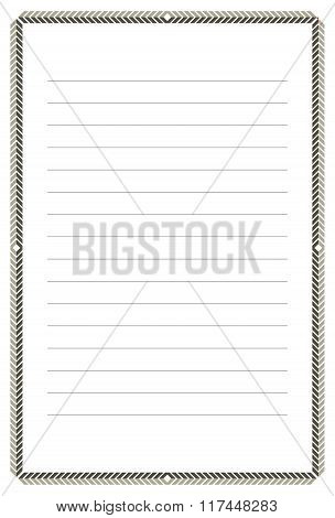 A Page Of Notepad With Abstract Frame