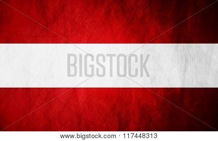 Austrian grunge flag vector design background
