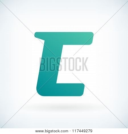 Modern Letter C Blow Shape Icon