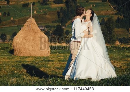 Beautiful wedding in the mountains,