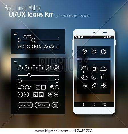 Line BasicMobile UI Icons Kit
