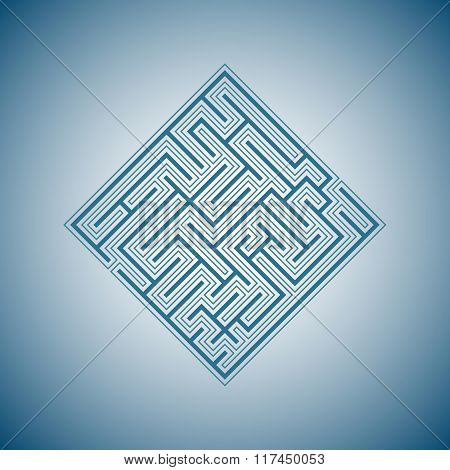 Abstract blue maze