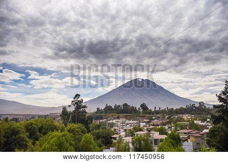 The Majestic Cone Of El Misti Volcano In Arequipa, Peru