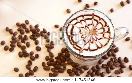 Coffee Latte Art background