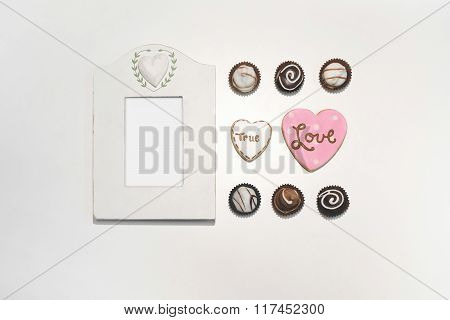 Real Photo Frame with Hearts
