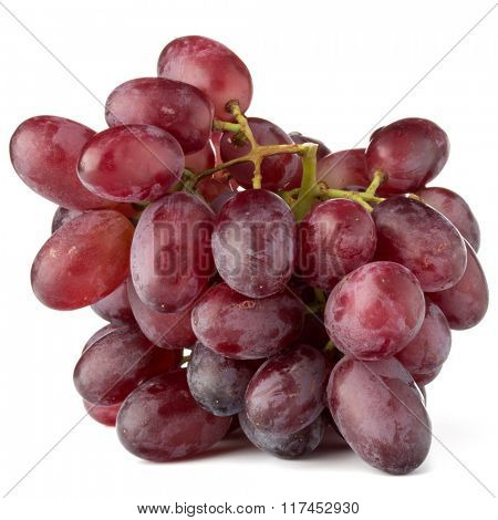 red grape bunch isolated on white background cutout