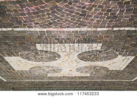 Vanzaghello Street  Lombardy Italy  Varese  And Marble