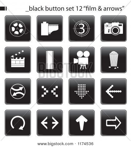 Black Button Set 12