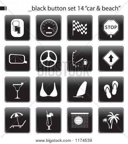 Black Button Set 14