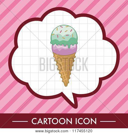 Ice Cream Cartoon Theme Elements