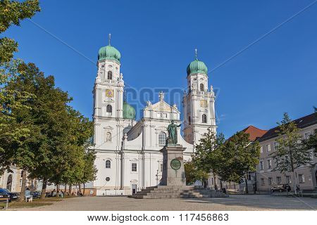 Facade Of Passau Cathedral, Germany