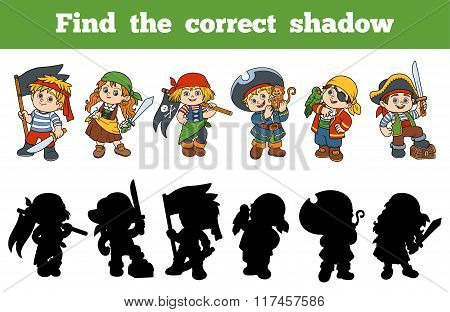 Find The Correct Shadow (set Of Characters Pirates)