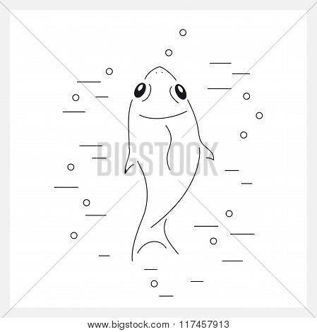 Fish line logo