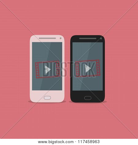 Smartphone video icon