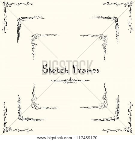 Sketch Frame Collection Hand Draw Vintage