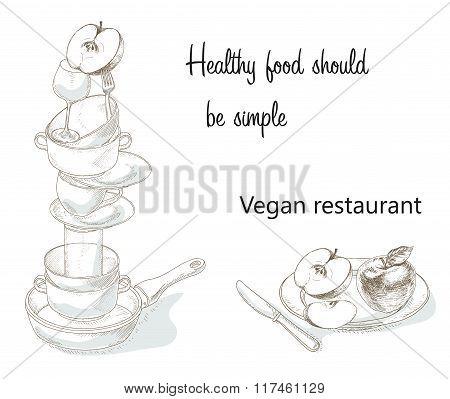 Vegan menu cover concept