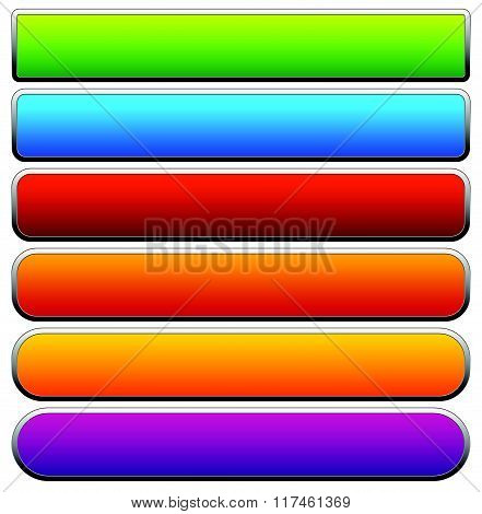 Set Of Colorful Button / Banner Backgrounds With Empty Space