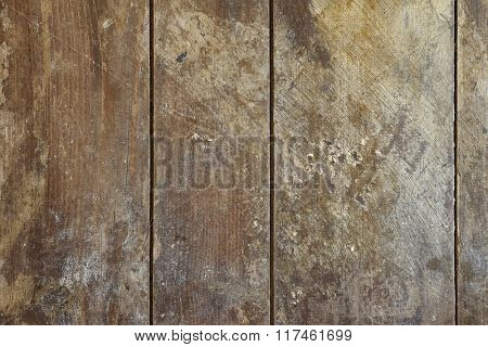 Background texture photo of rustic weathered barn wood with stains