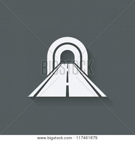 road through tunnel symbol