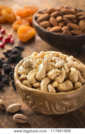 Dried fruits and nuts. Arabic food