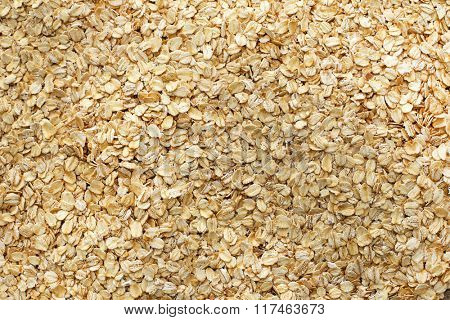Food. Oats on the table