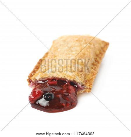 Oil fried crunchy pie isolated