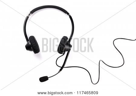 Helpdesk headset. Isolated on white background
