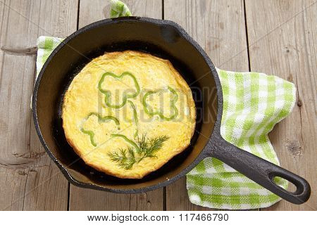 Omelette for St Patrick day
