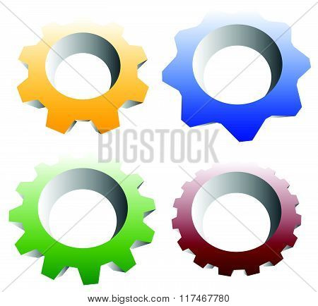 Gearwheel, Cogwheel, Gear Shapes. Mechanics, Industry Or Production, Development Concepts