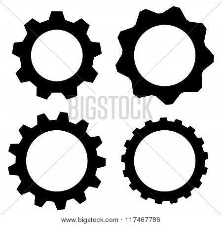 Gearwheel, Cogwheel, Gear Shapes. Mechanics, Industry Or Production, Development Concepts