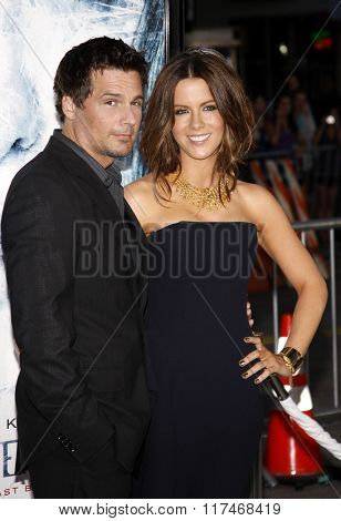 Kate Beckinsale and Len Wiseman at the Los Angeles Premiere of