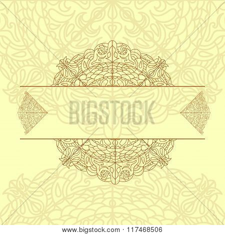 Mandala. Round Ornament Pattern. Vintage Decorative Elements. Hand Drawn Background Eps 10 Vector
