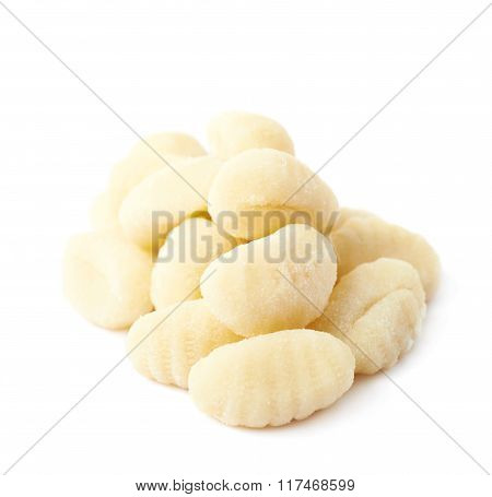 Pile of gnocchi dough dumplings