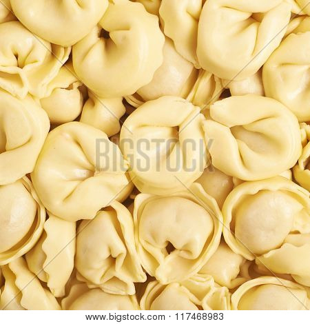 Surface covered with ravioli