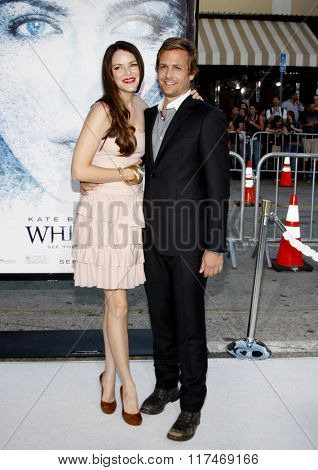 Gabriel Macht and Jacinda Barrett at the Los Angeles Premiere of