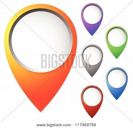 Map Pin Set