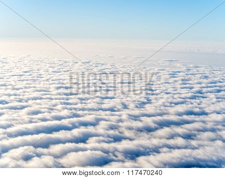 Aerial View Of Stratocumulus Clouds