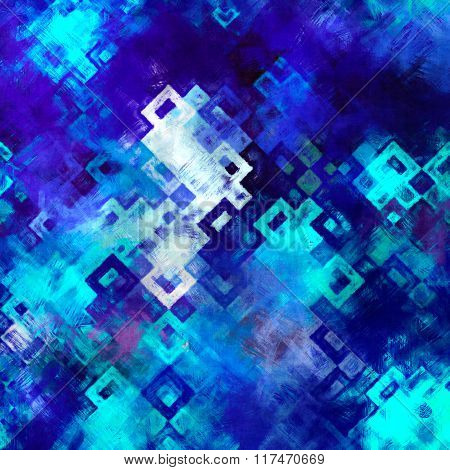 blue geometry painting