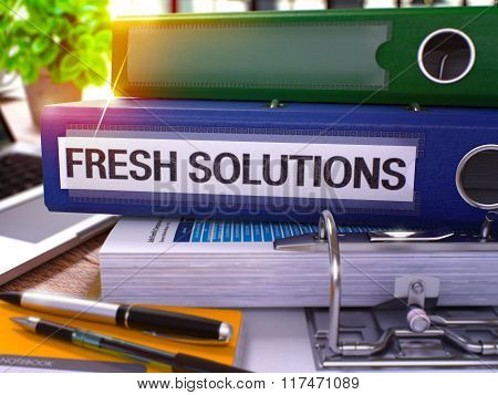 Blue Ring Binder with Inscription Fresh Solutions