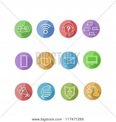 Icons Collection Application Modern Smart Technology