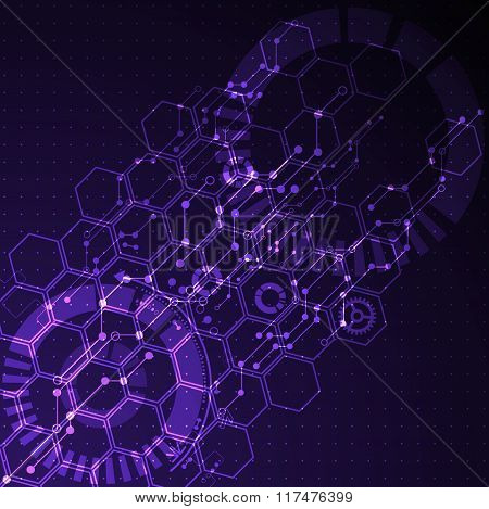 Abstract Futuristic Technology Business Background