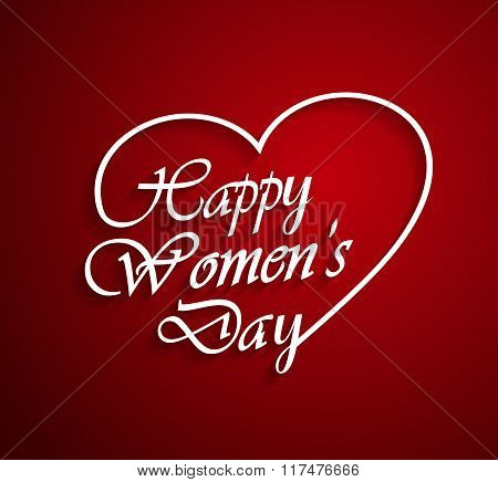 Womens Day logo on red background