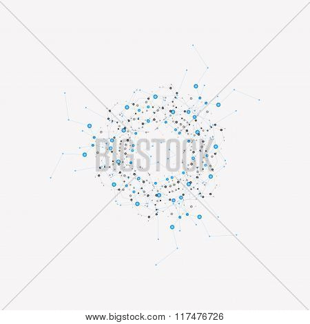 Vector background pattern network. Design dots and lines