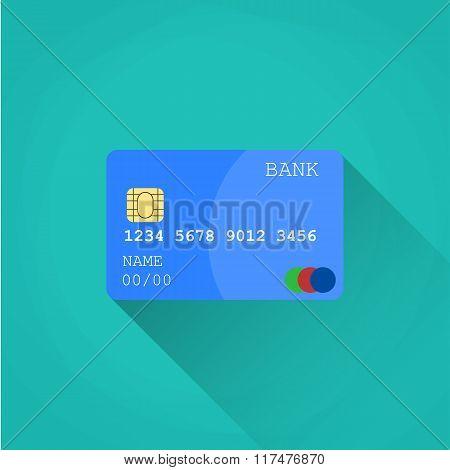 Credit card.  Flat design