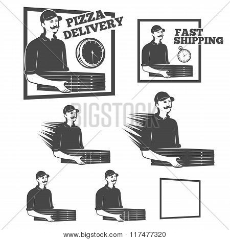 Logo pizza delivery