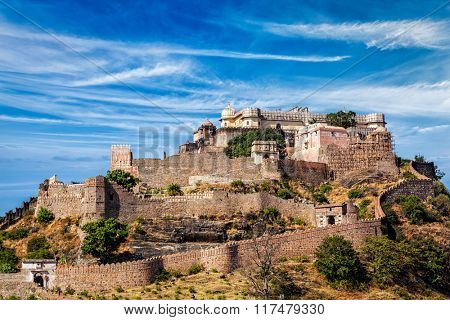 Kumbhalgarh fort. Rajasthan, India