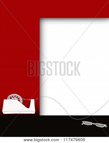 Background Notice Board Red White Black