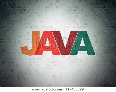 Software concept: Java on Digital Paper background